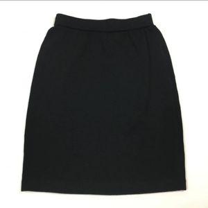 St. John black santana knit pull on skirt